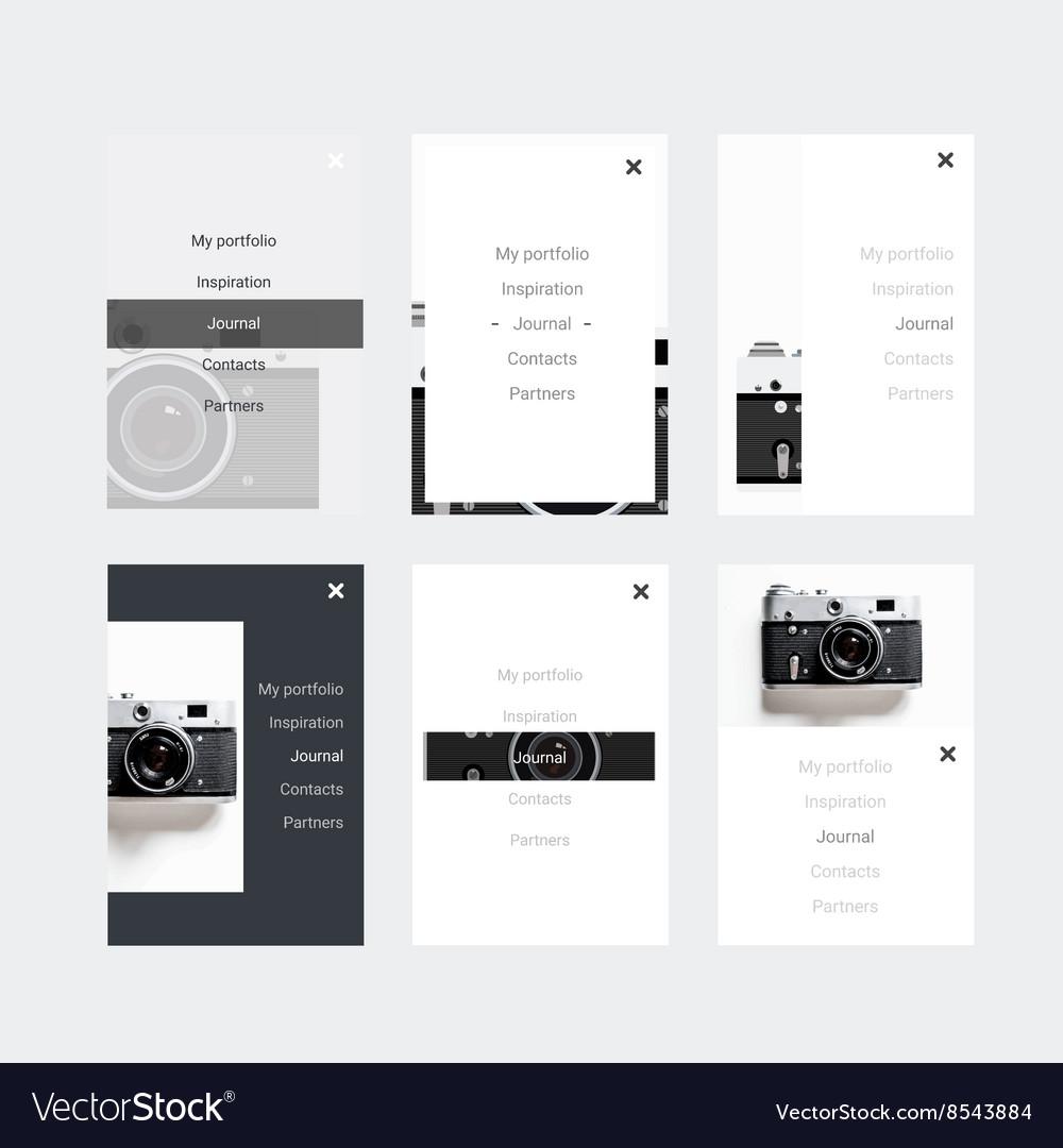 Minimalistic hipster ui kit for designing