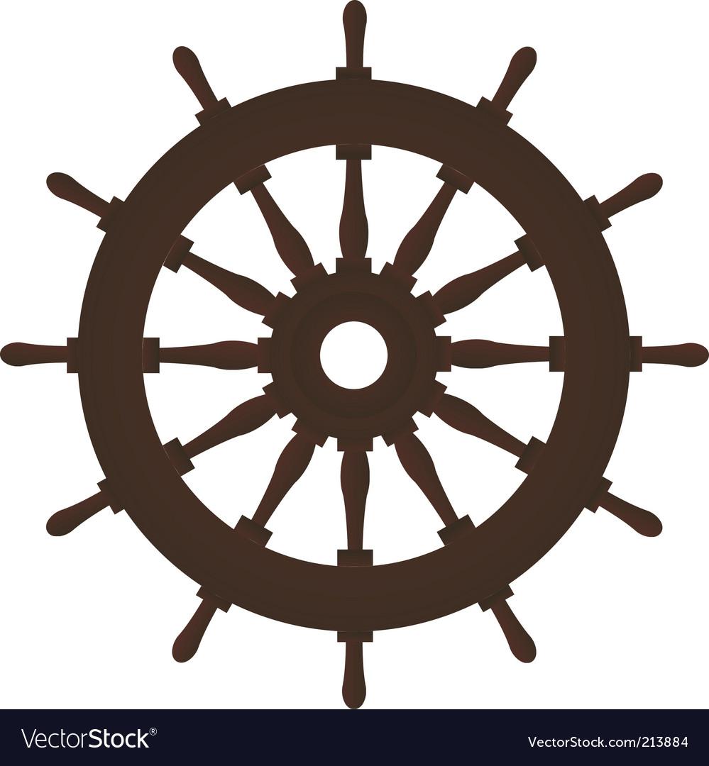 Rudder vector image
