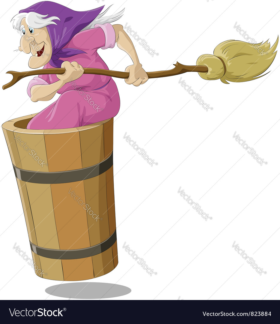 Witch from Russian fairy tales vector image