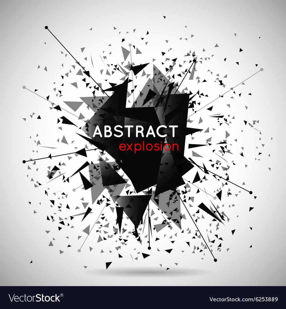 Abstract black explosion background