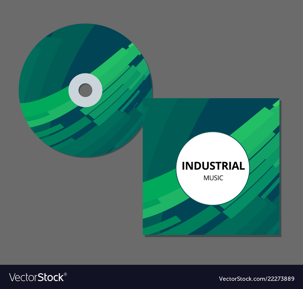 Cd cover presentation design template with copy