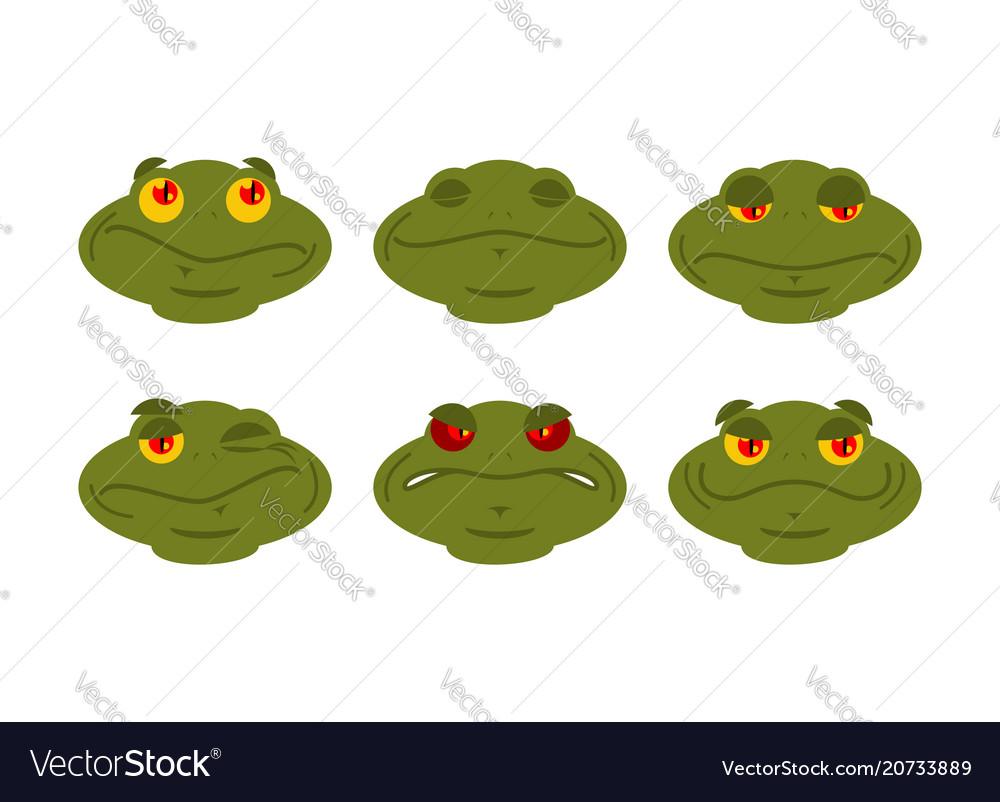 Frog emoji set toad avatar good and evil