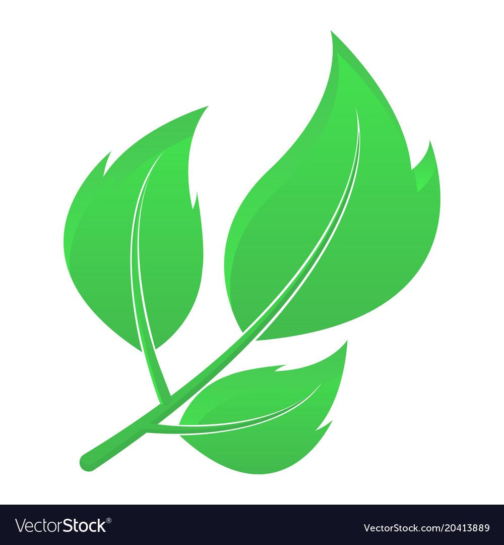 Green leaves eco friendly symbol
