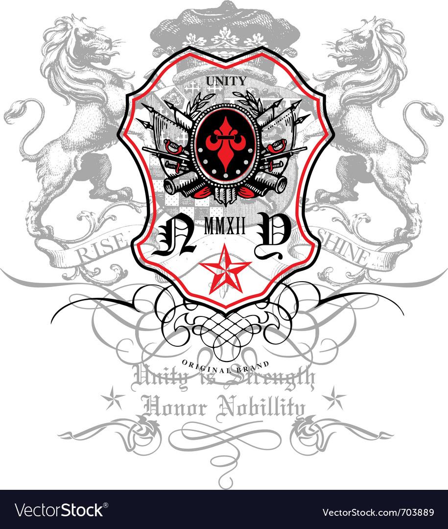 Rise and shine crest emblem