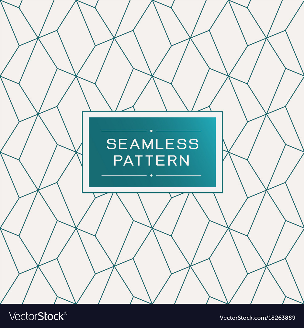 Seamless pattern with simple line geometric
