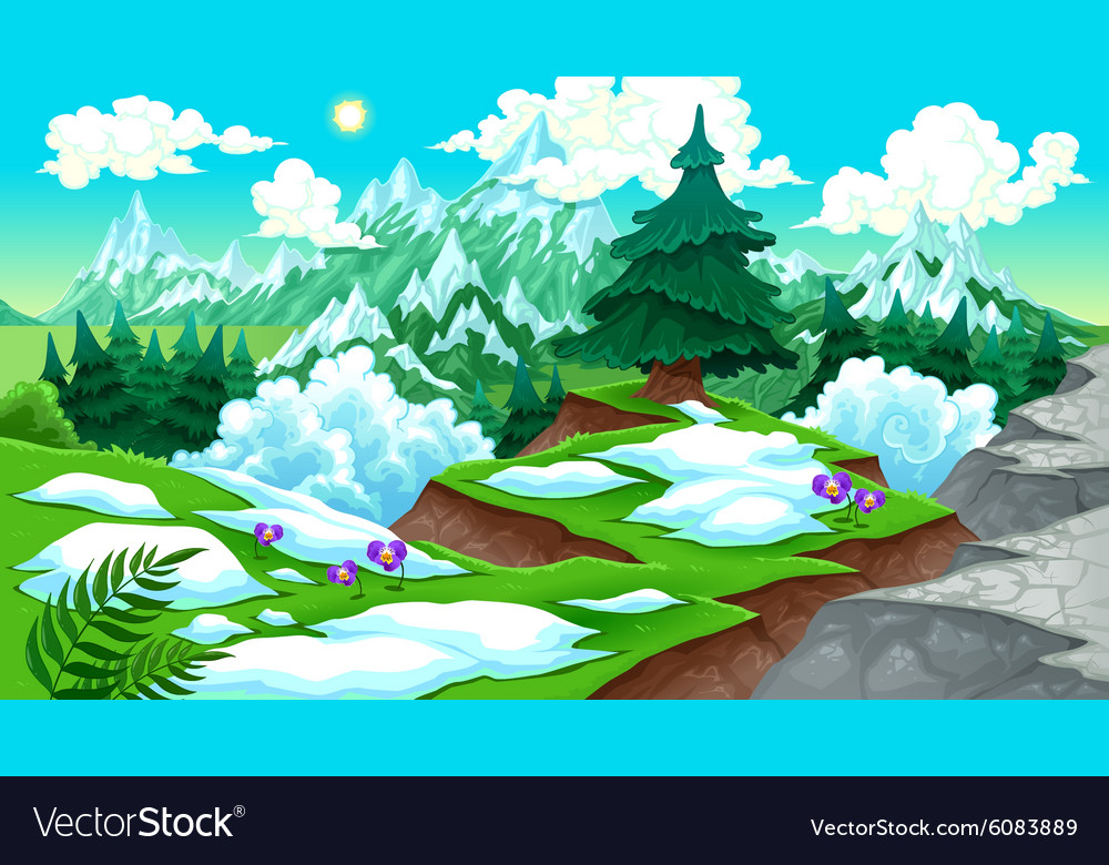 View on the mountains vector image