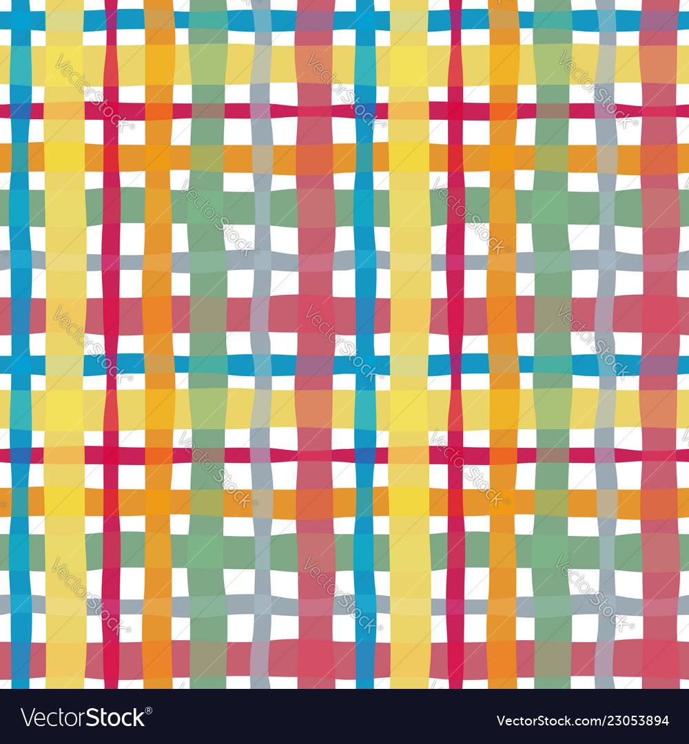 Check watercolor seamless pattern
