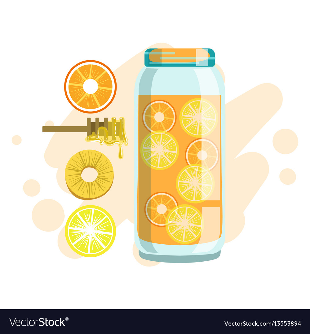 Citrus pineapple and honey smoothie non vector image