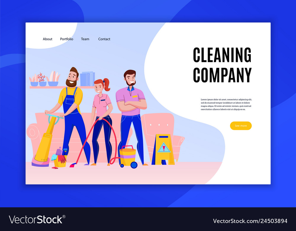 Cleaning company concept banner