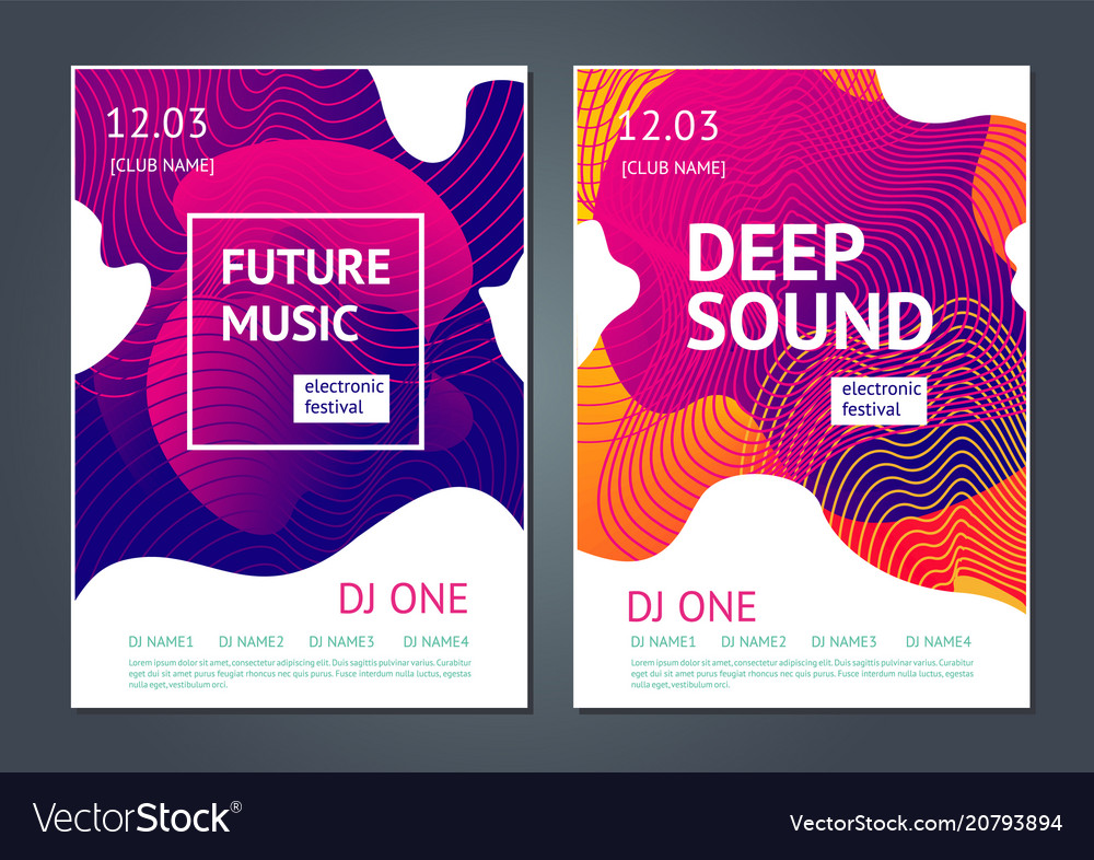 Deep sound abstract poster for electronic music