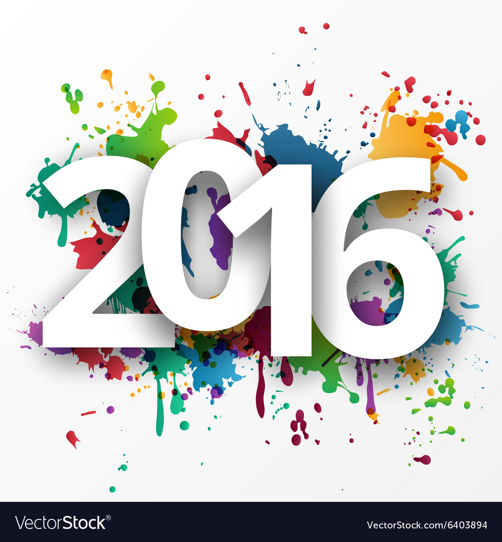Happy 2015 new year with spray paint