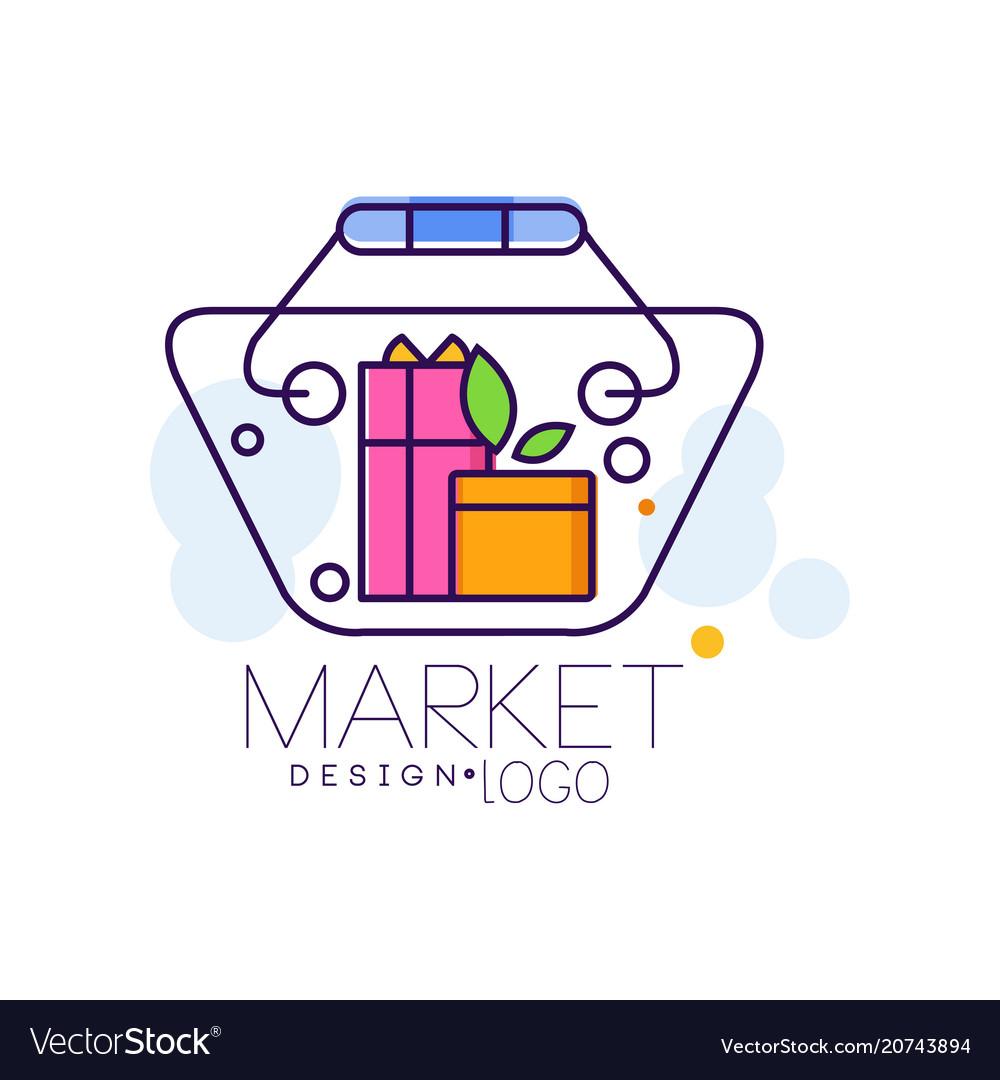 Market logo design bright sale badge label for