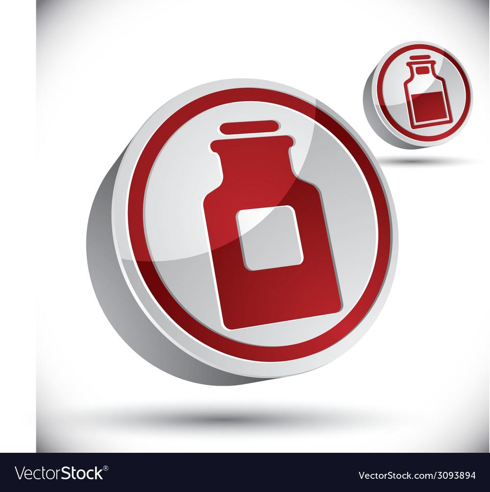 Medical bottle 3d icon