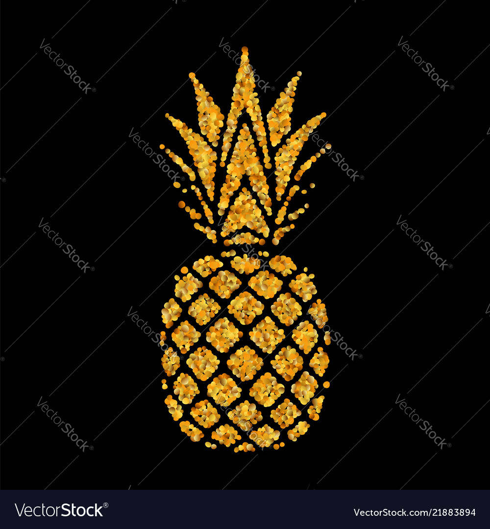 Pineapple golden with leaf tropical gold exotic