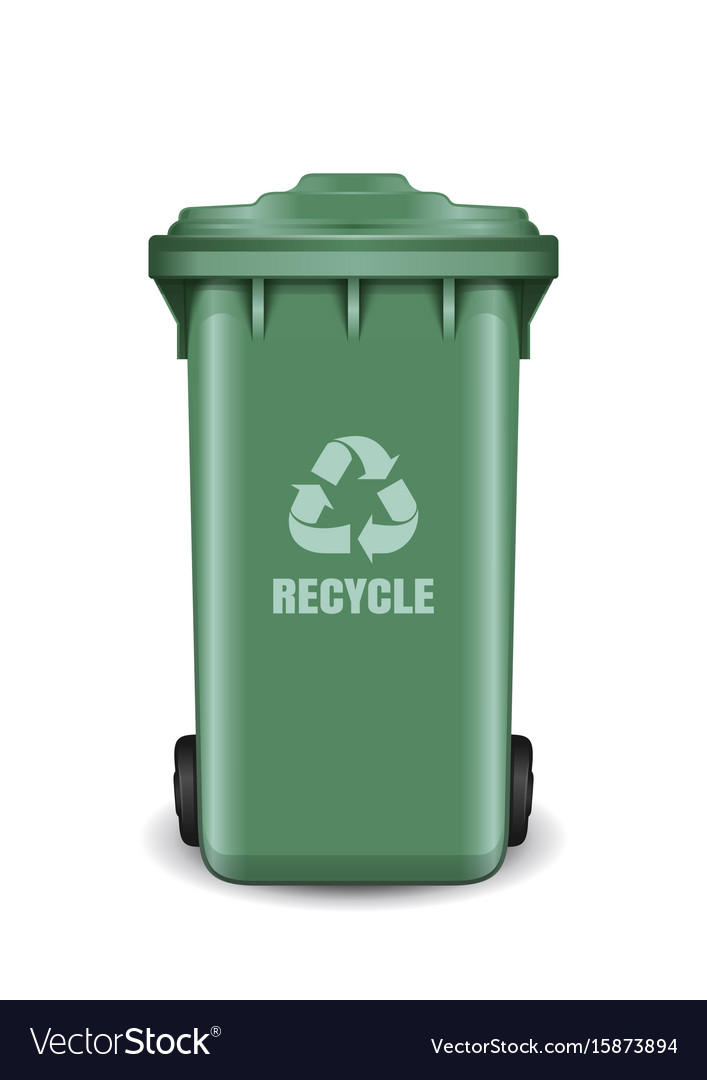 Garbage Trash Can Vector Image