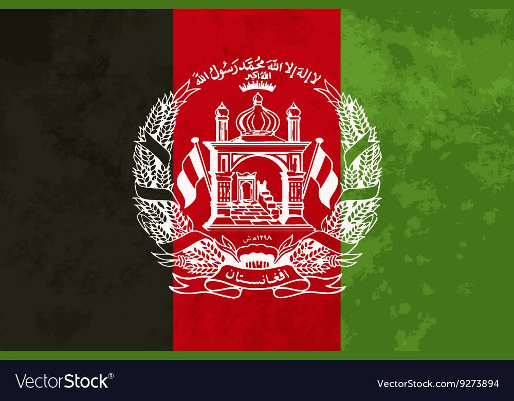True proportions Afghanistan flag with texture