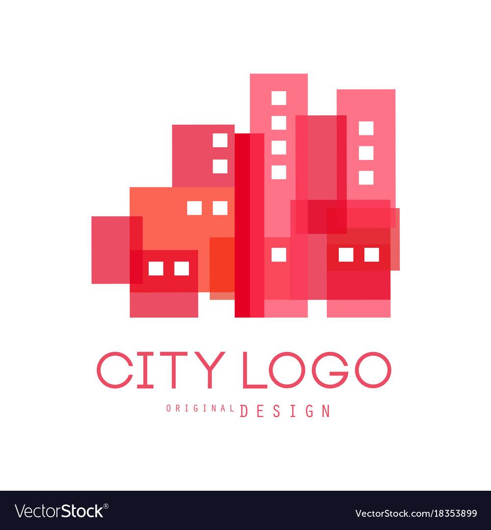 City logo original design modern design of real