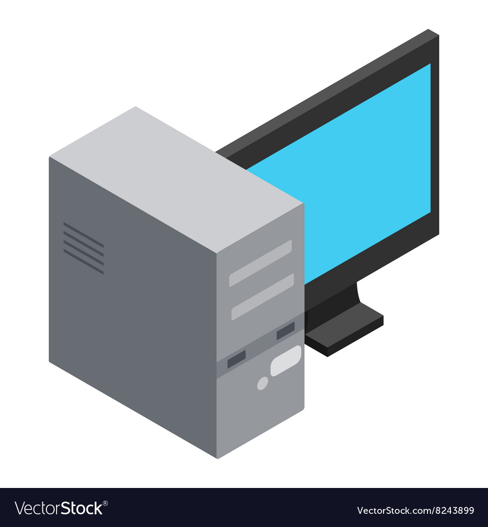 Computer icon cartoon style