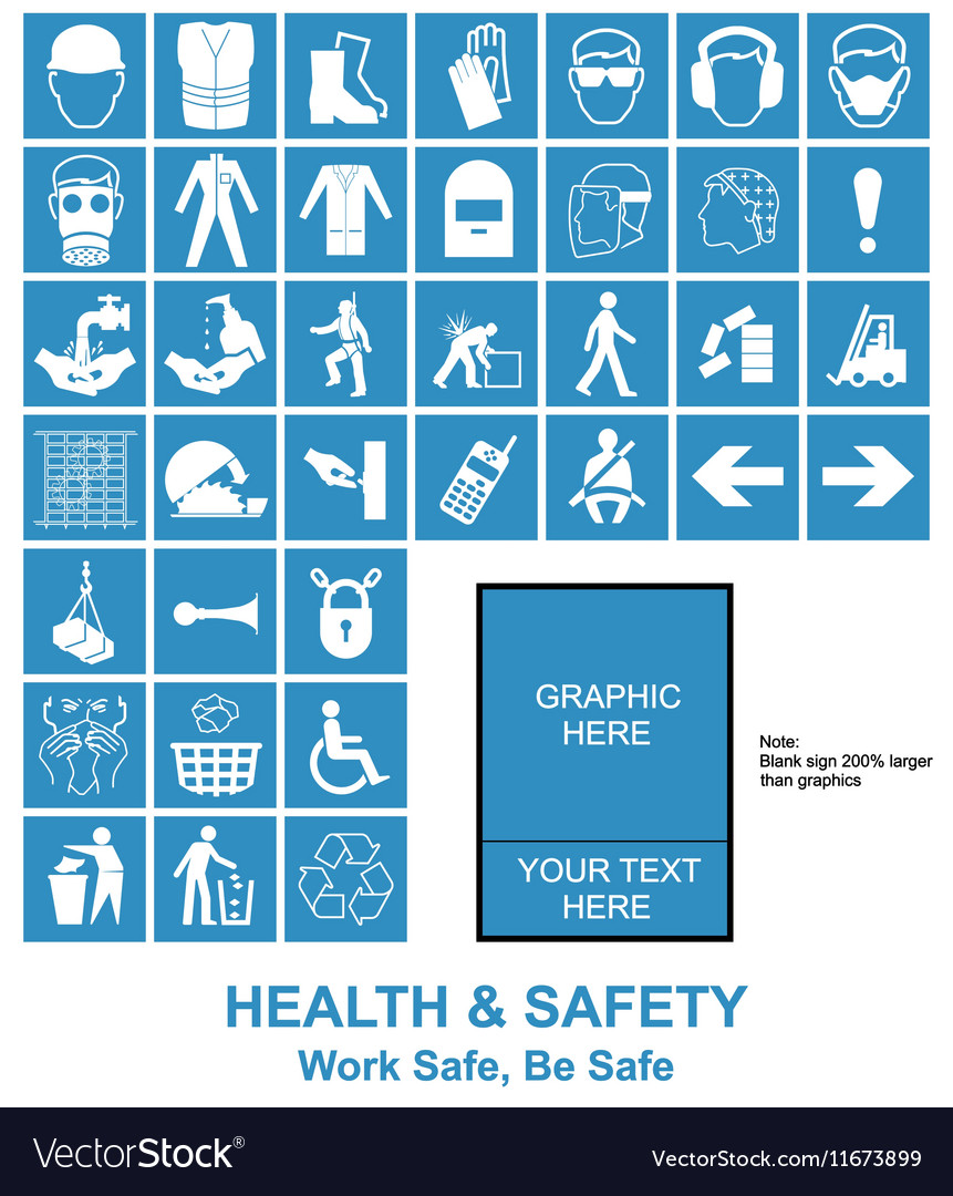 Make Your Own Health And Safety Signs Royalty Free Vector