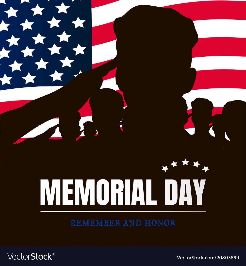 4e6a9730065a Memorial day silhouettes of soldiers Royalty Free Vector