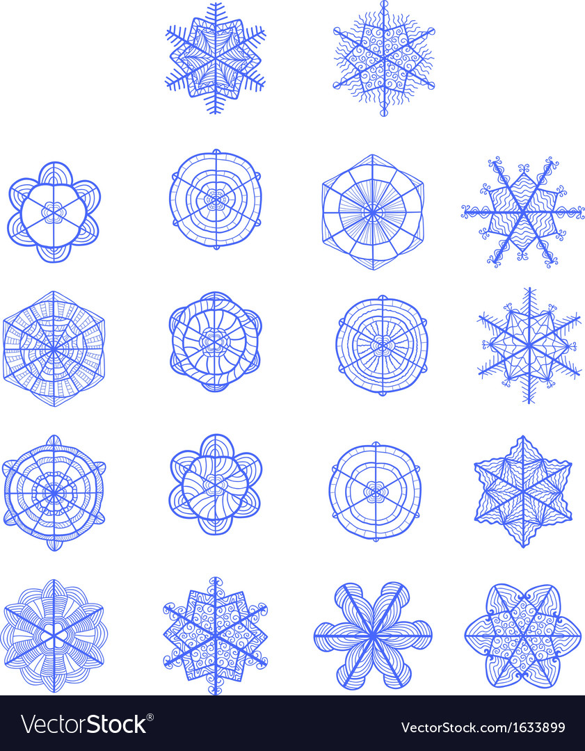 Set of hand drawn snowflakes for Your design