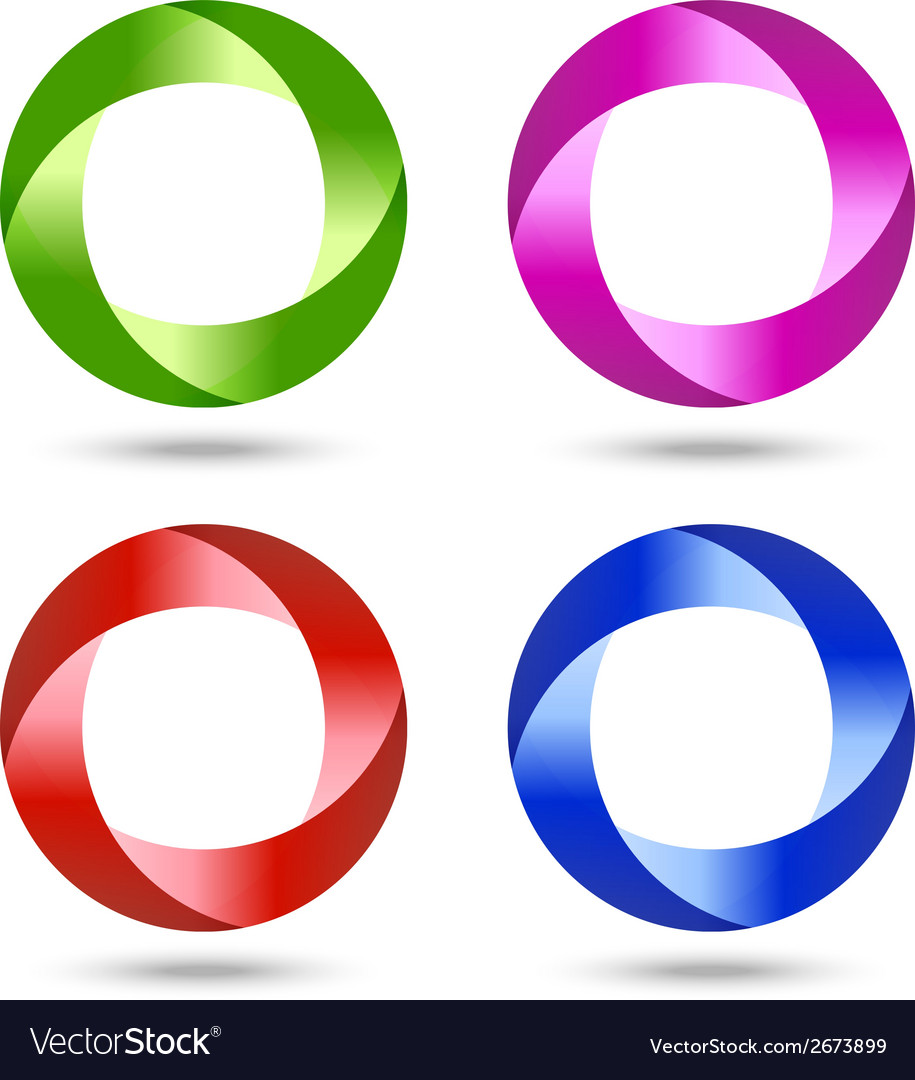 Set of swirl icons for design vector image