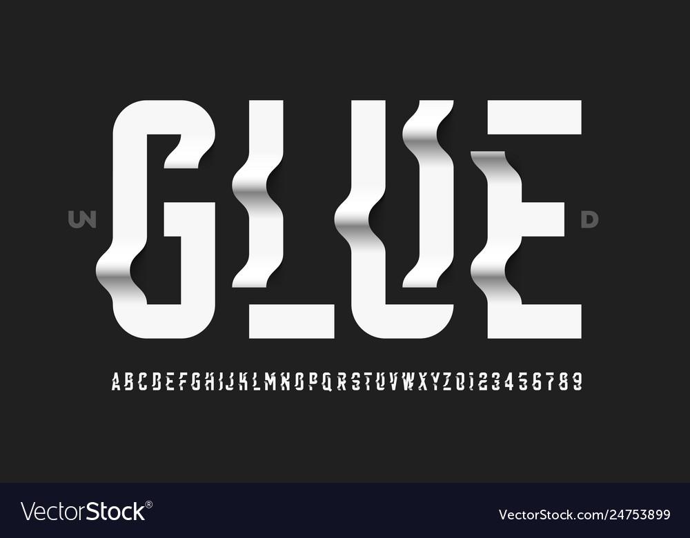 Unglued style modern font