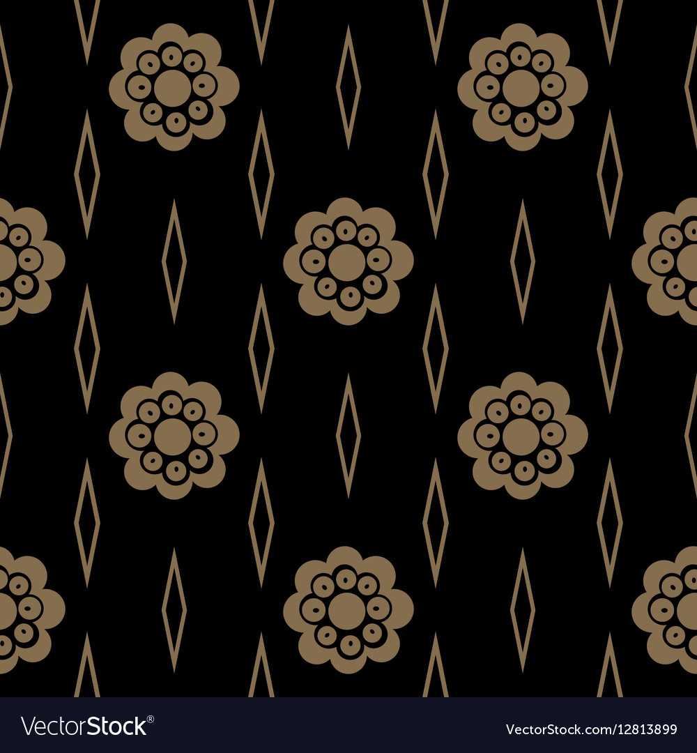 Vintage pattern with flower