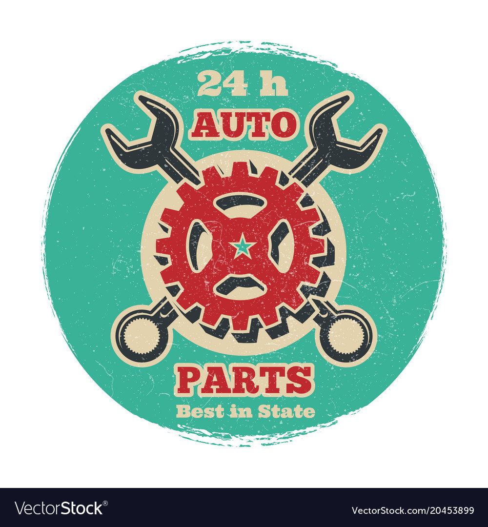 Vintage road vehicle repair service logo design