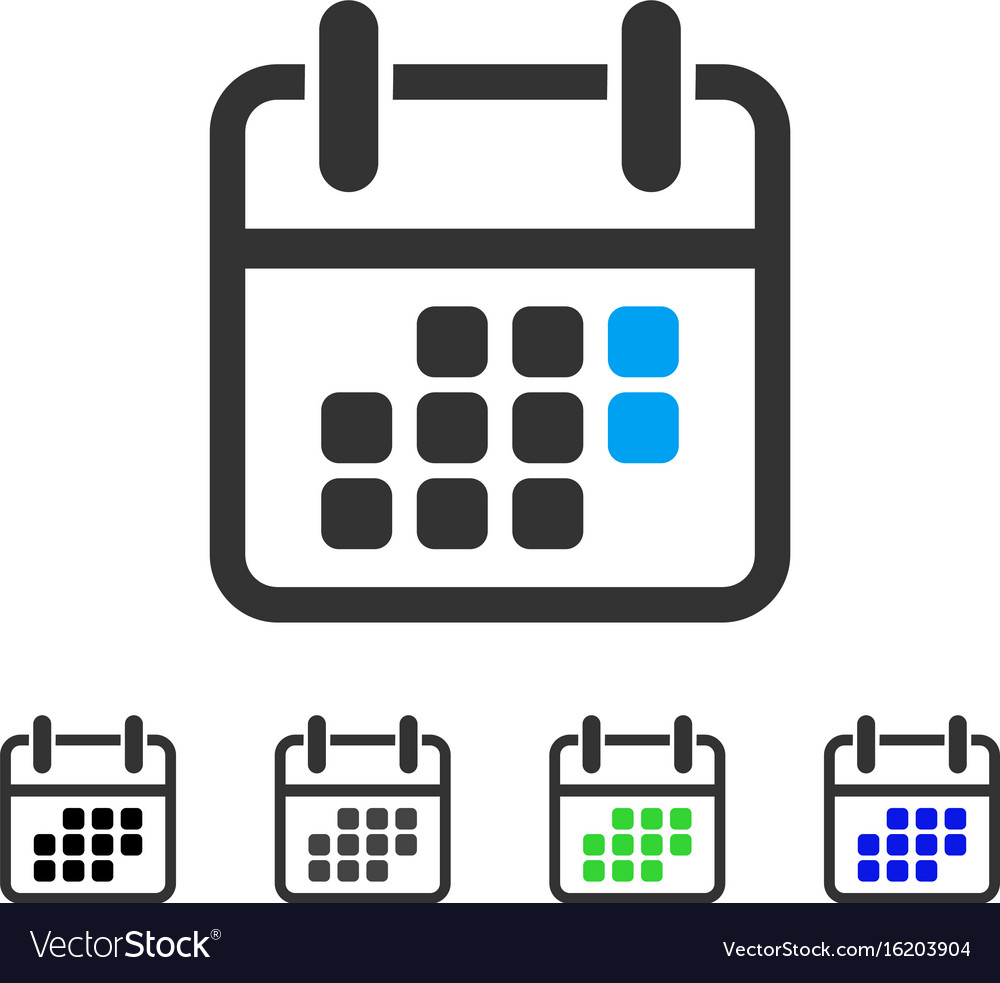 Calendar weekend flat icon vector image