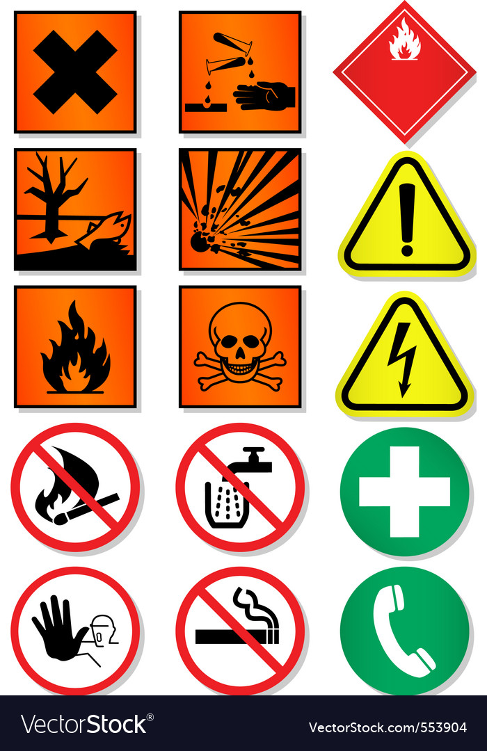 Caution icons