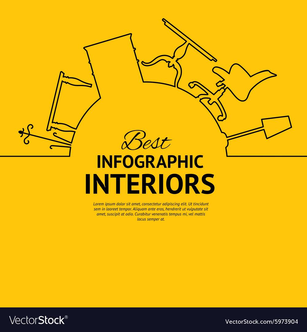 Interior circle infographics
