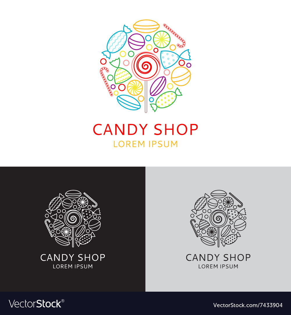 Logo of candy shop