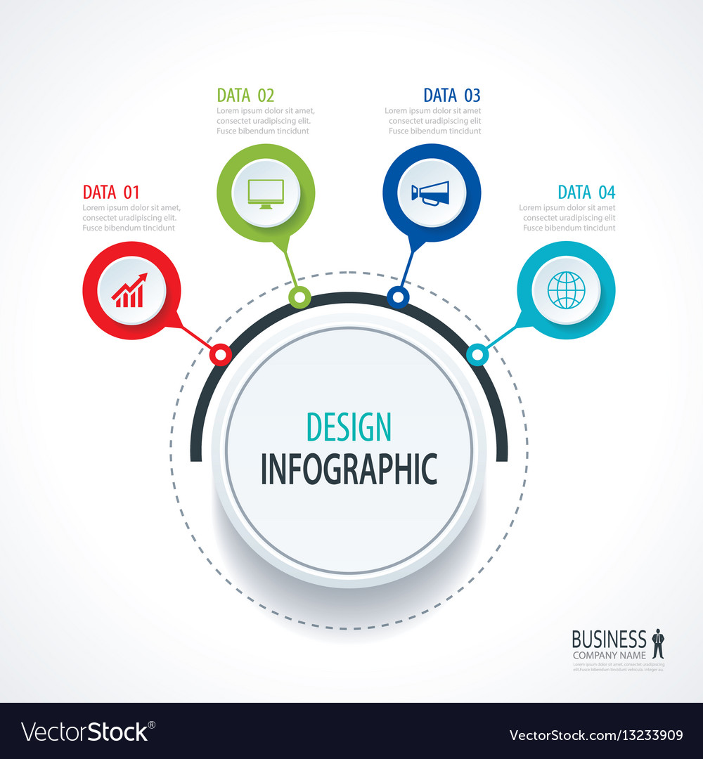 Abstract circle infographics number options vector image