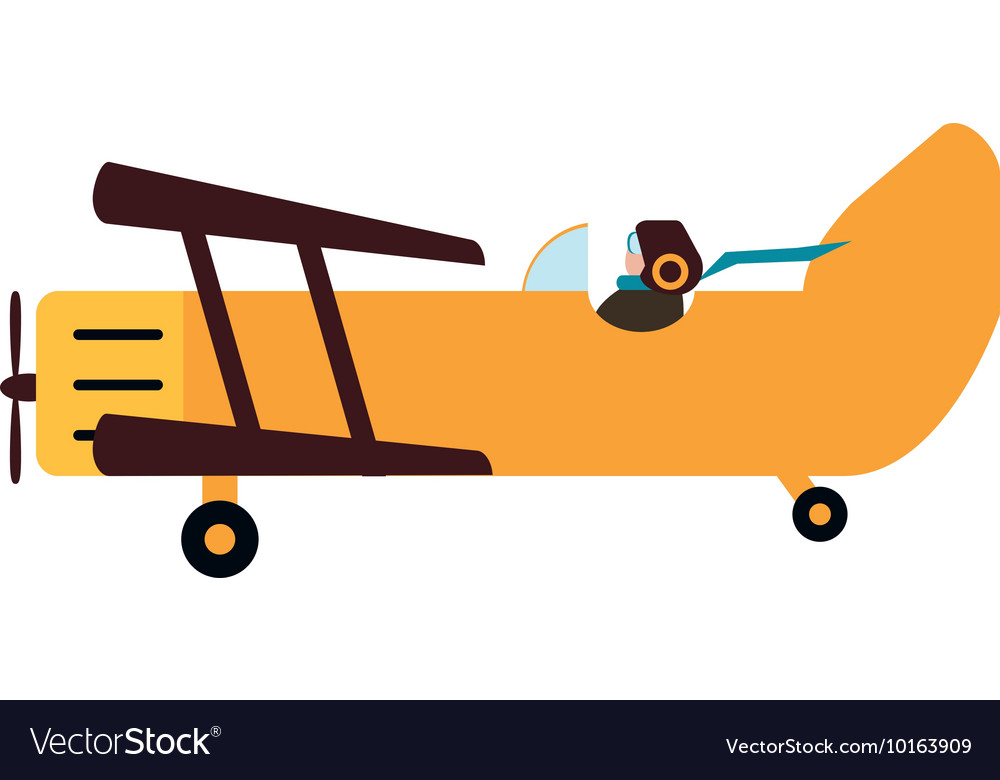 airplane travel transporation icon graphic vector image