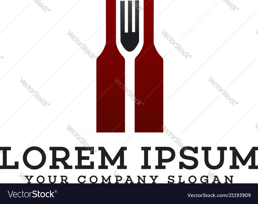 Bar restaurant logo design concept template