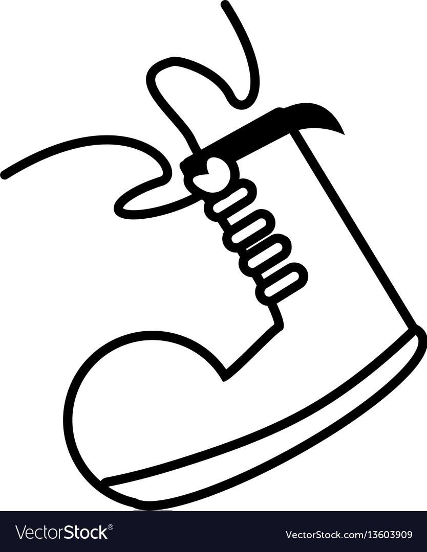 Clown shoe april fools line vector image