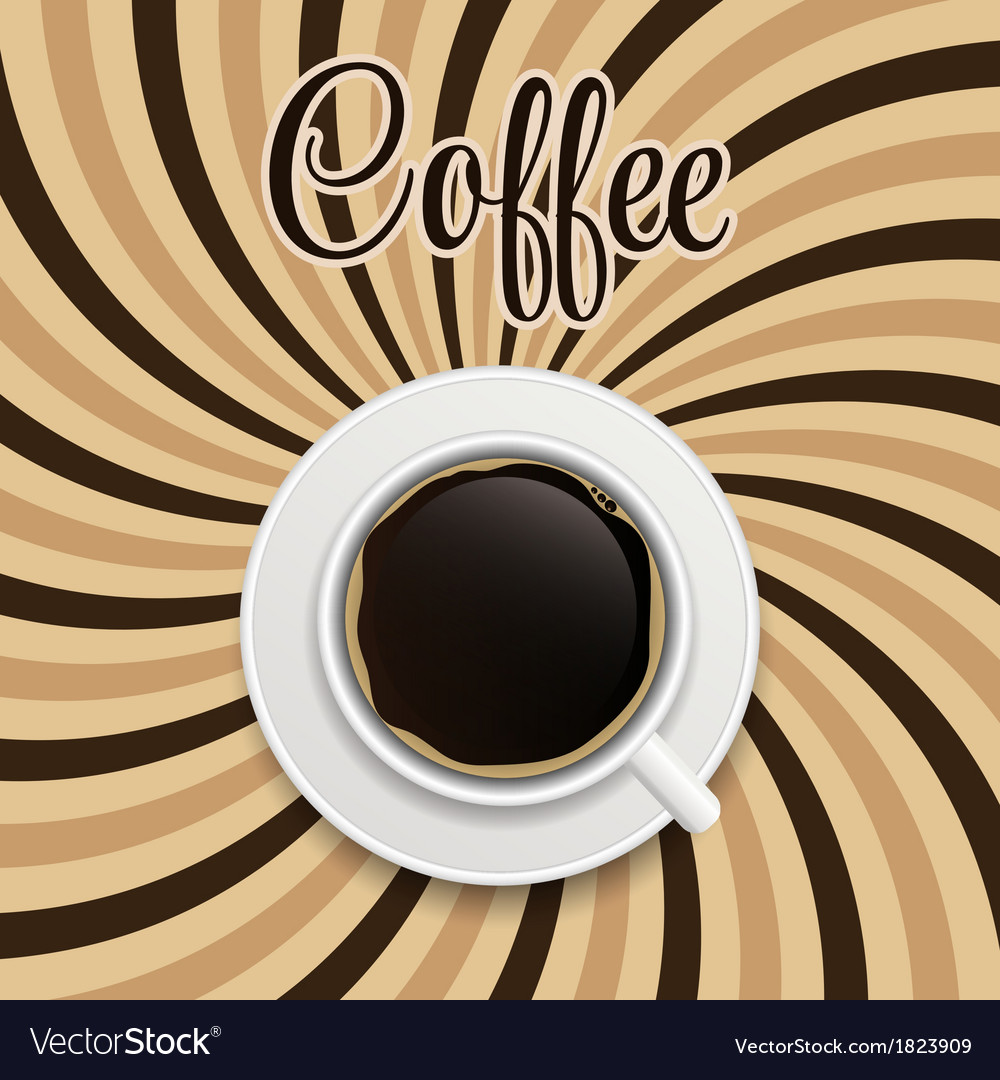 Coffee abstract hypnotic background