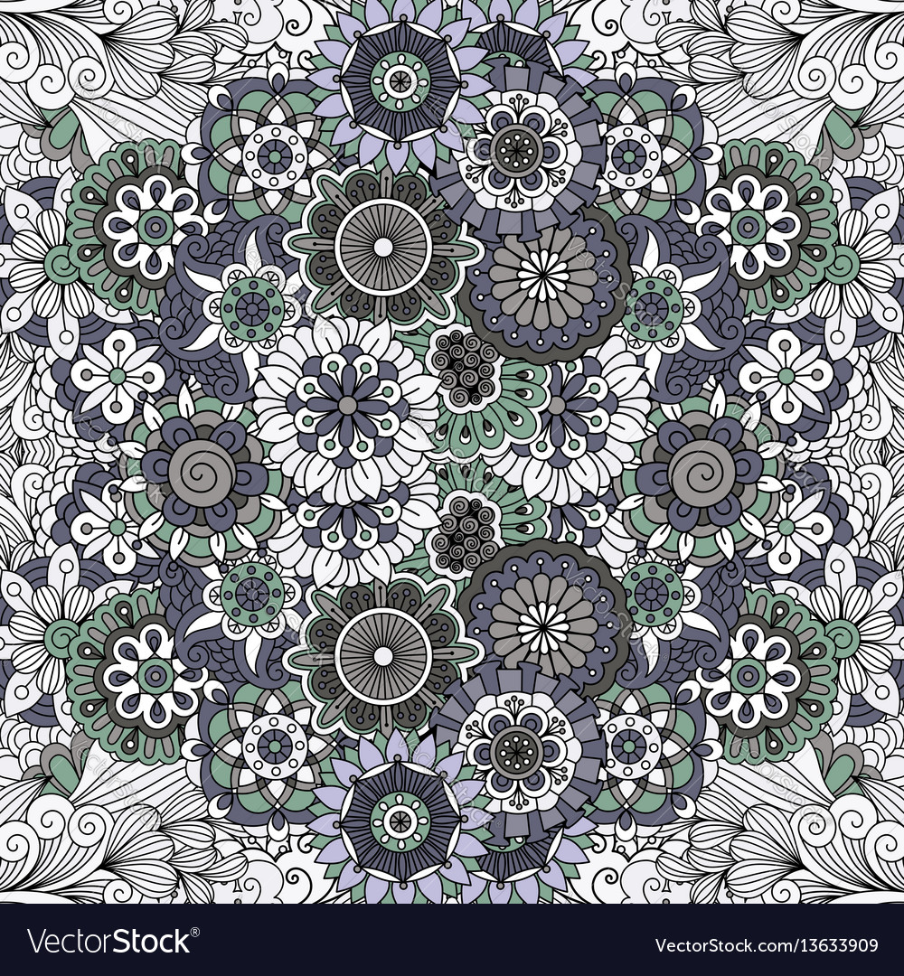 Floral mandala like pattern