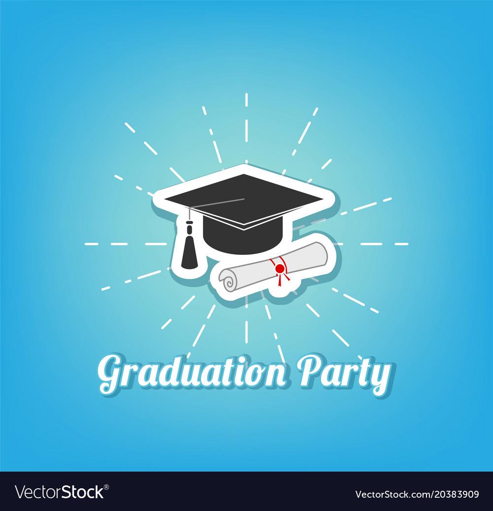 Graduation hat graduation party lettering