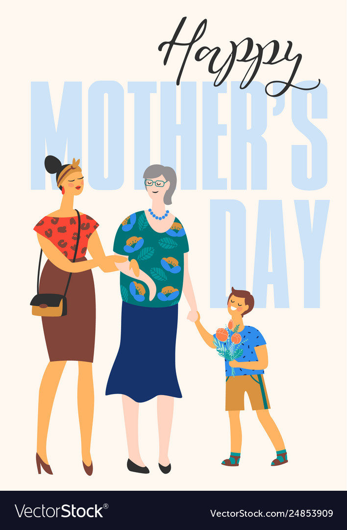 Happy mothers day with women