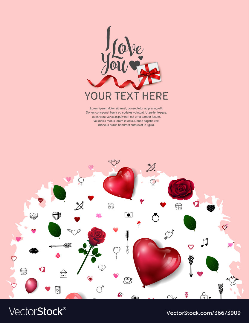 I love you concept with love element and round