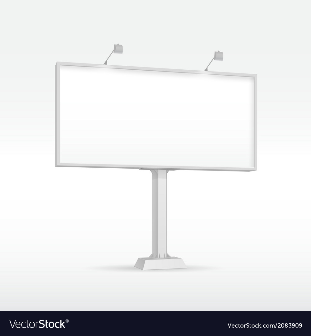Outdoor Billboard With Lighting