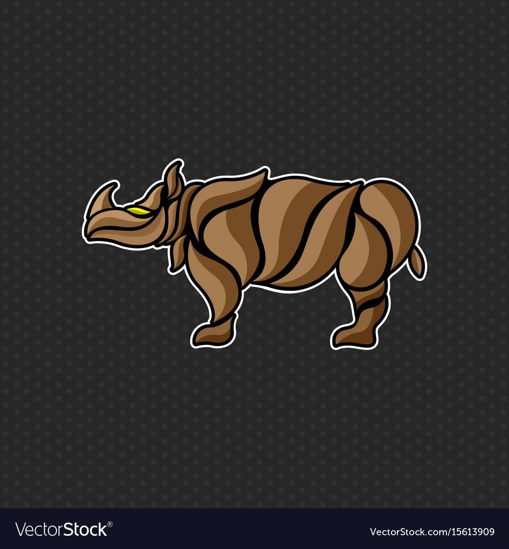 Rhino logo template design