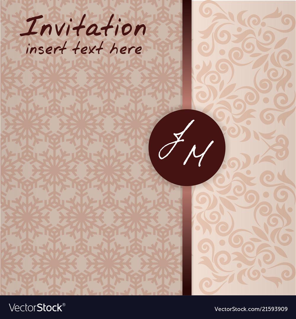 Wedding invitation pattern template card celebrati