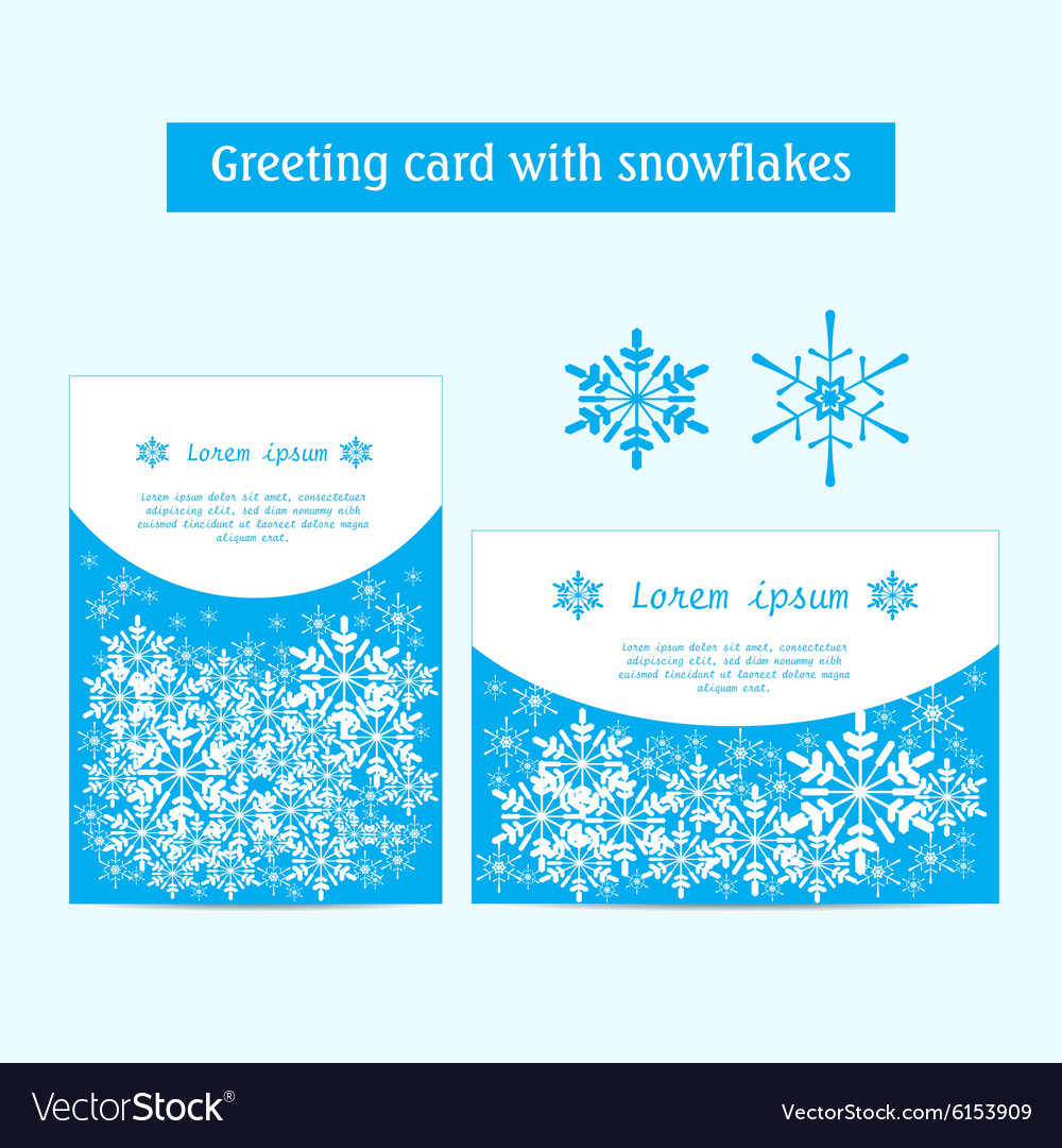 Winter banners with snowflakes on a blue