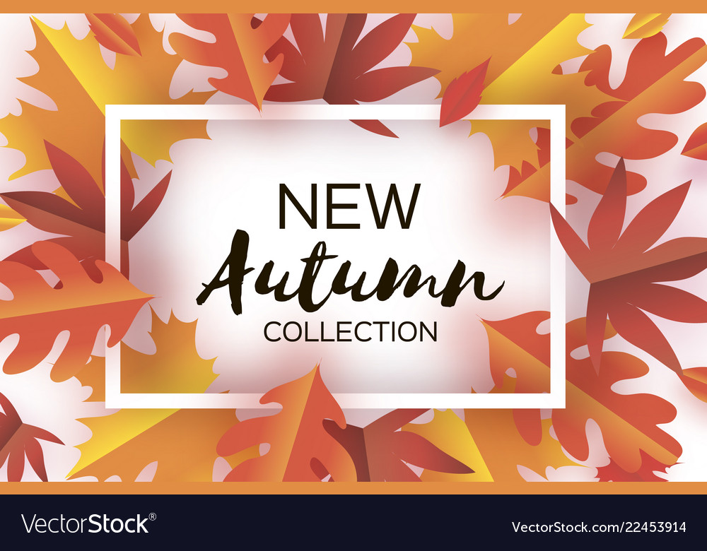 Autumn paper cut leaves new autumn collection