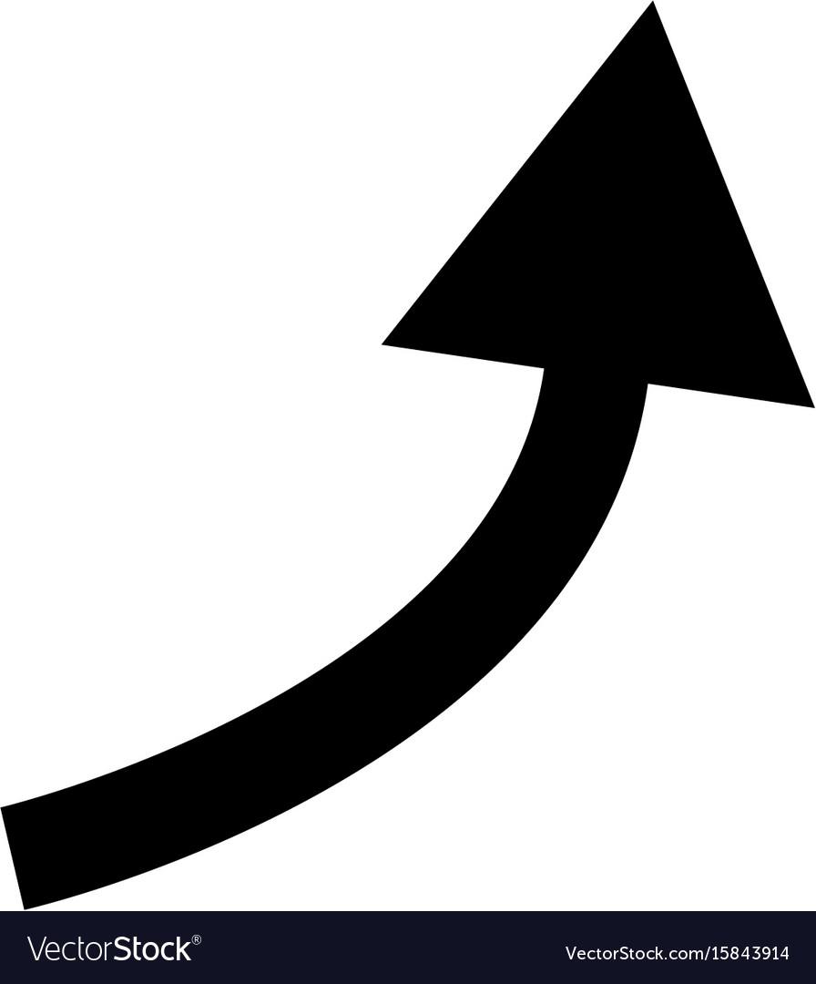 Black curved arrow Royalty Free Vector Image - VectorStock Curved Arrow