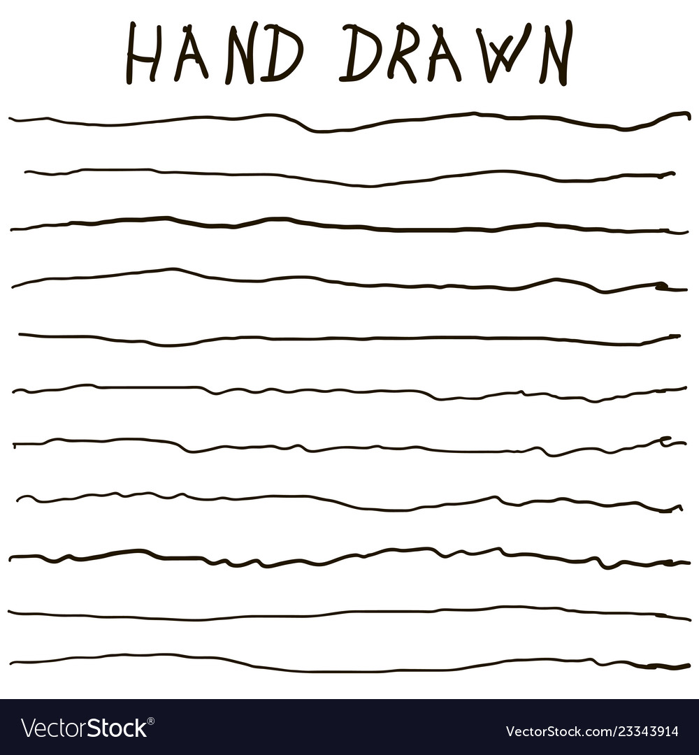 Crooked uneven hand drawn lines