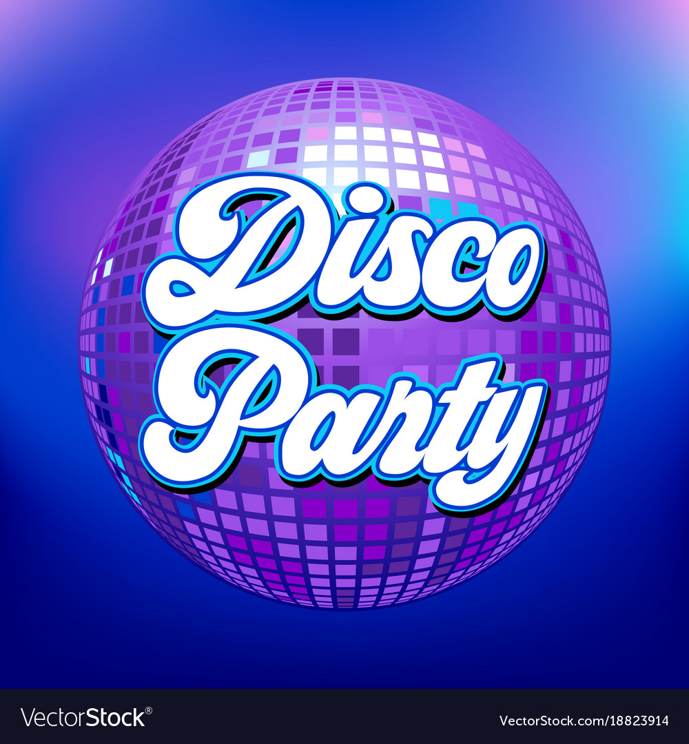 Disco party background for poster or flyer